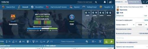Футбол в 1хставка: обзор чемпионатов и росписи матчей